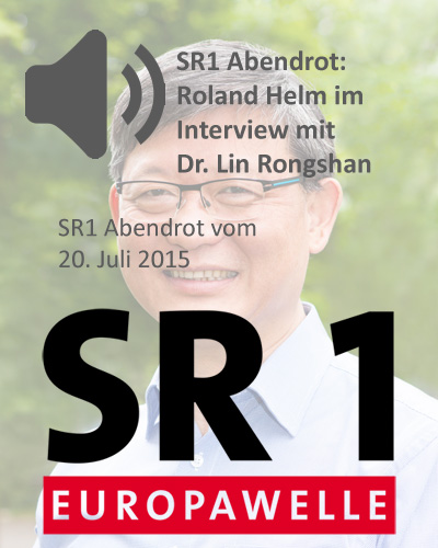 SR1 Abendrot: Roland Helm im Interview mit Dr. Lin Rongshan