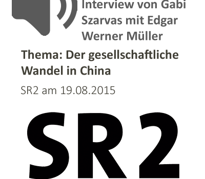 "Radio-Interview ""Der gesellschaftliche Wandel in China"""